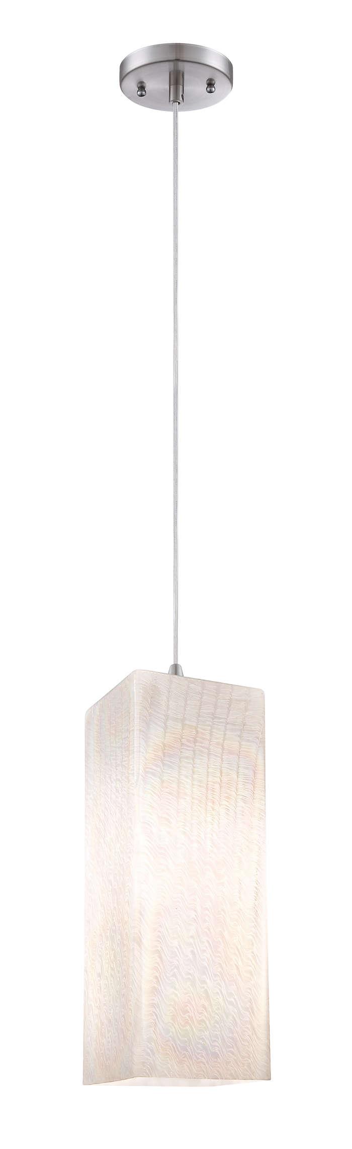 Cotton Candy 1-light pendant, Satin Nickel finish