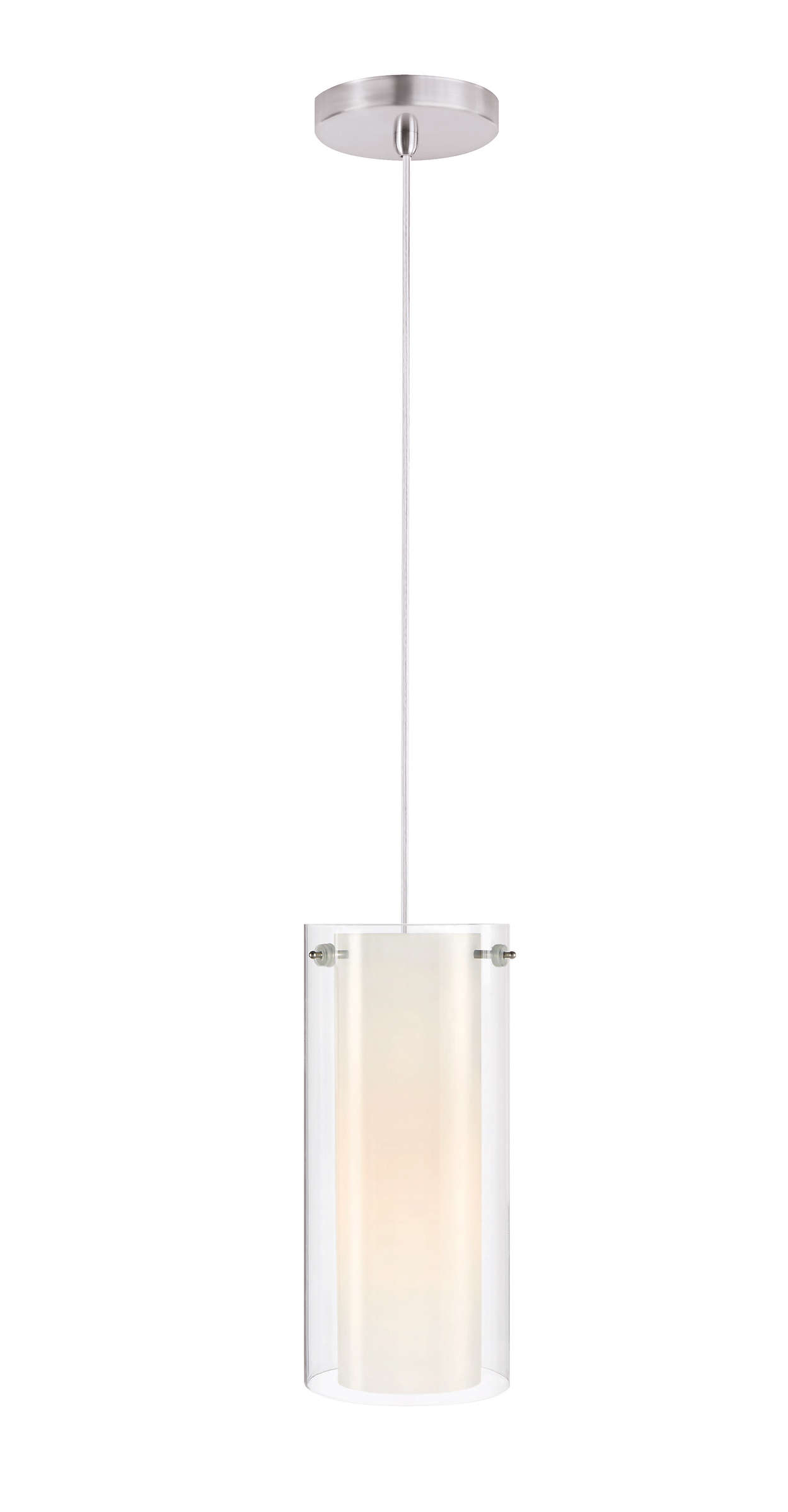 Hula 1-light pendant in Satin Nickel finish