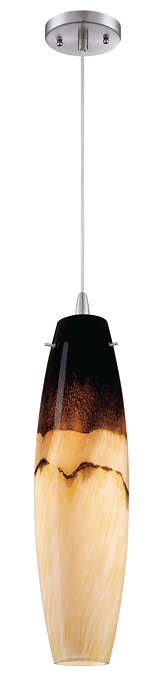 Mojave 1-light pendant in Satin Nickel finish