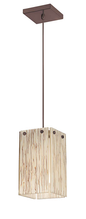 Ecoframe 1-light pendant in Merlot Bronze finish