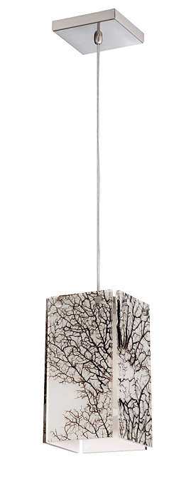 Ecoframe 1-light pendant in Satin Nickel finish