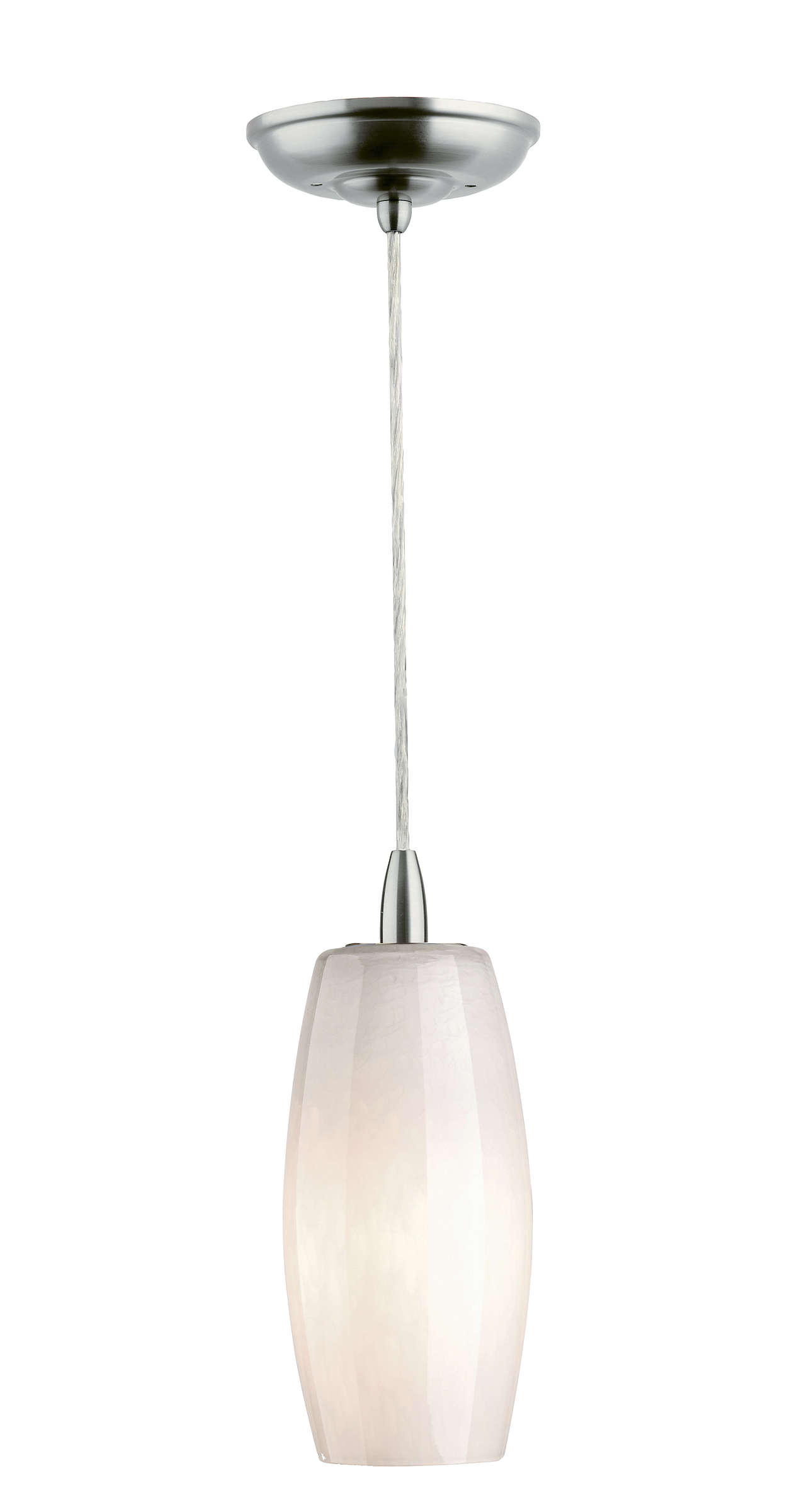 Wishes 1-light pendant in Satin Nickel finish