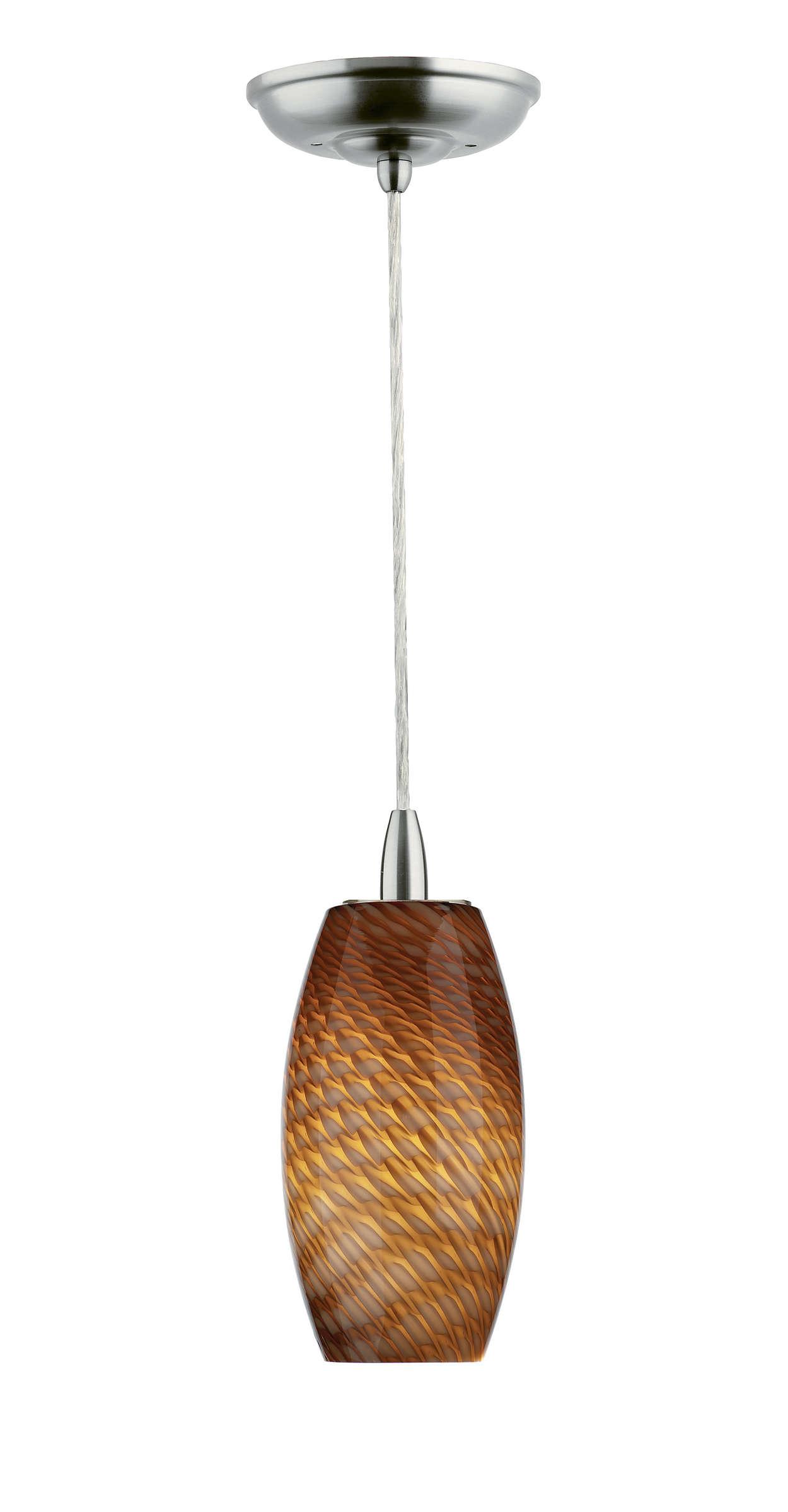 Marta Wishes 1-light pendant, Satin Nickel finish