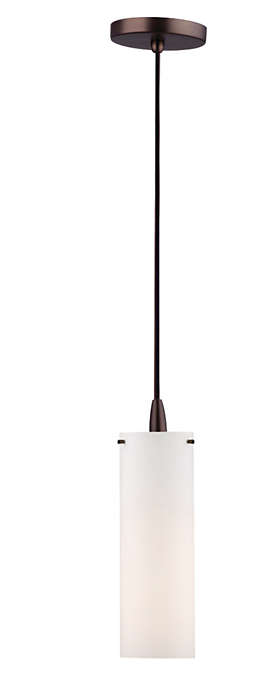 Current 1-light pendant in Merlot Bronze finish