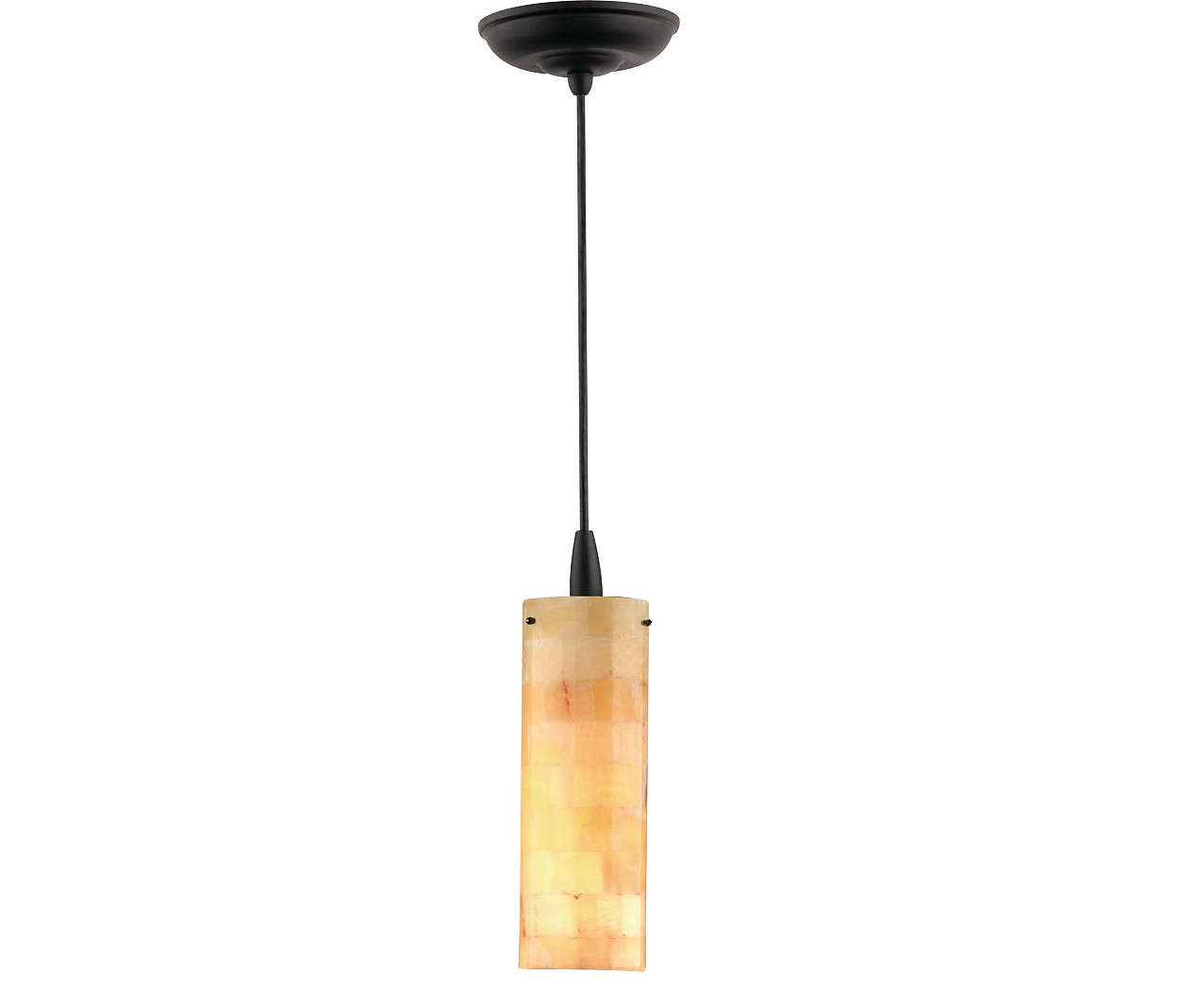 Onyx Mosaic 1-light pendant in Black finish