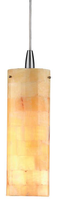 Onyx Mosaic 1-light pendant in Satin Nickel finish