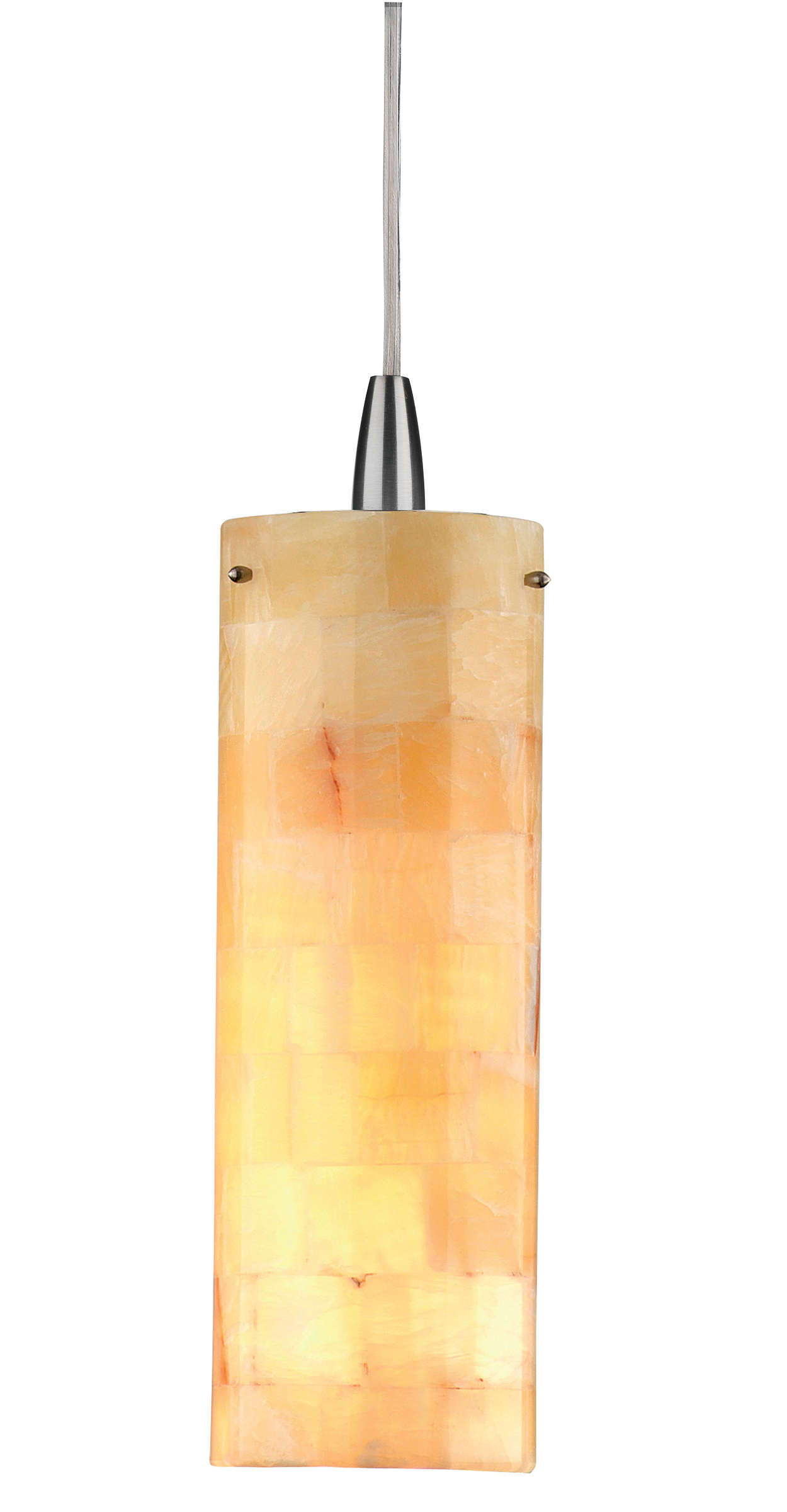 Onyx Mosaic 1-light pendant in Satin Nickel finish