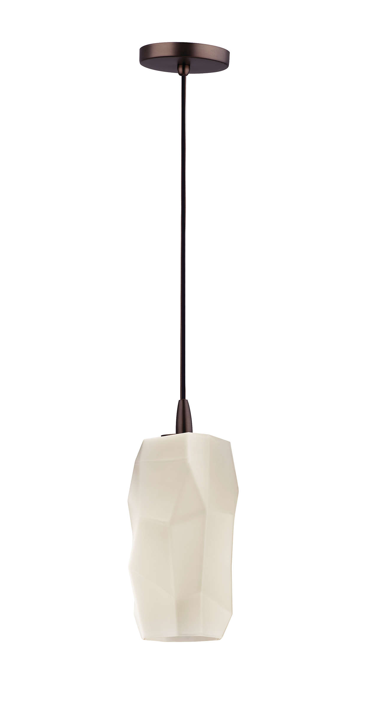 Facet 1-light pendant in Merlot Bronze finish