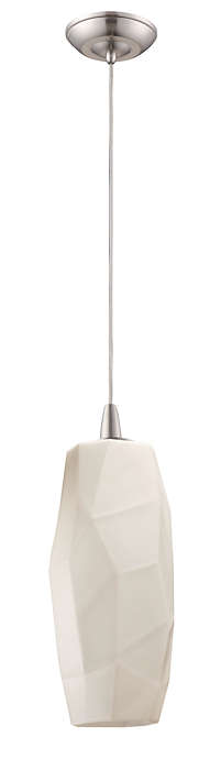 Facet 1-light pendant in Satin Nickel finish