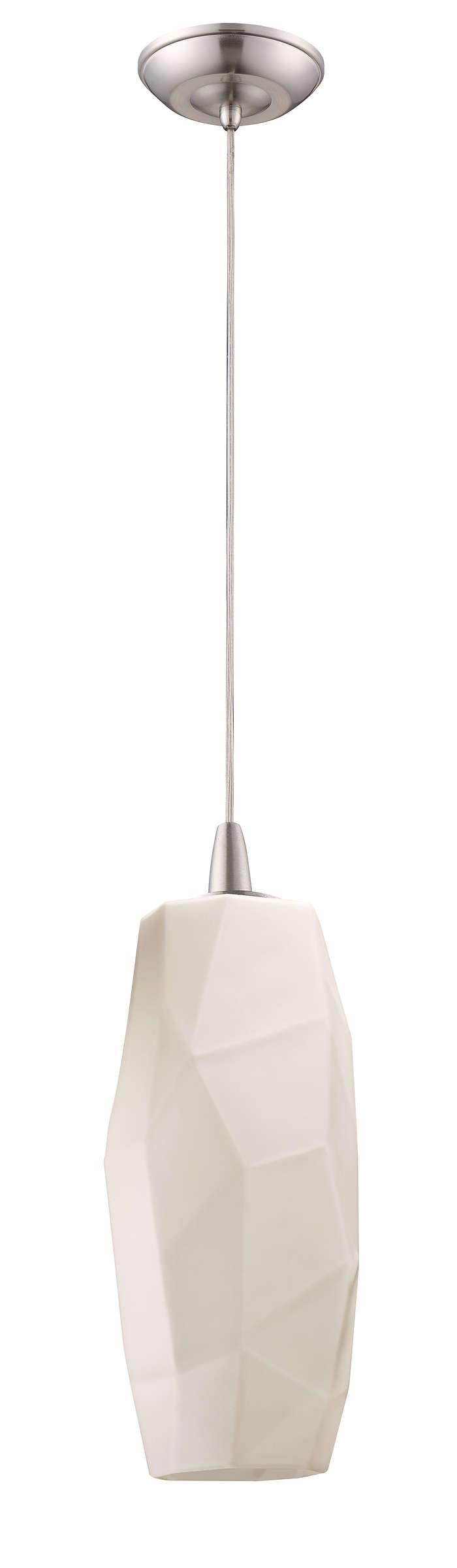 Facet 1-light pendant in Satin Nickel finish