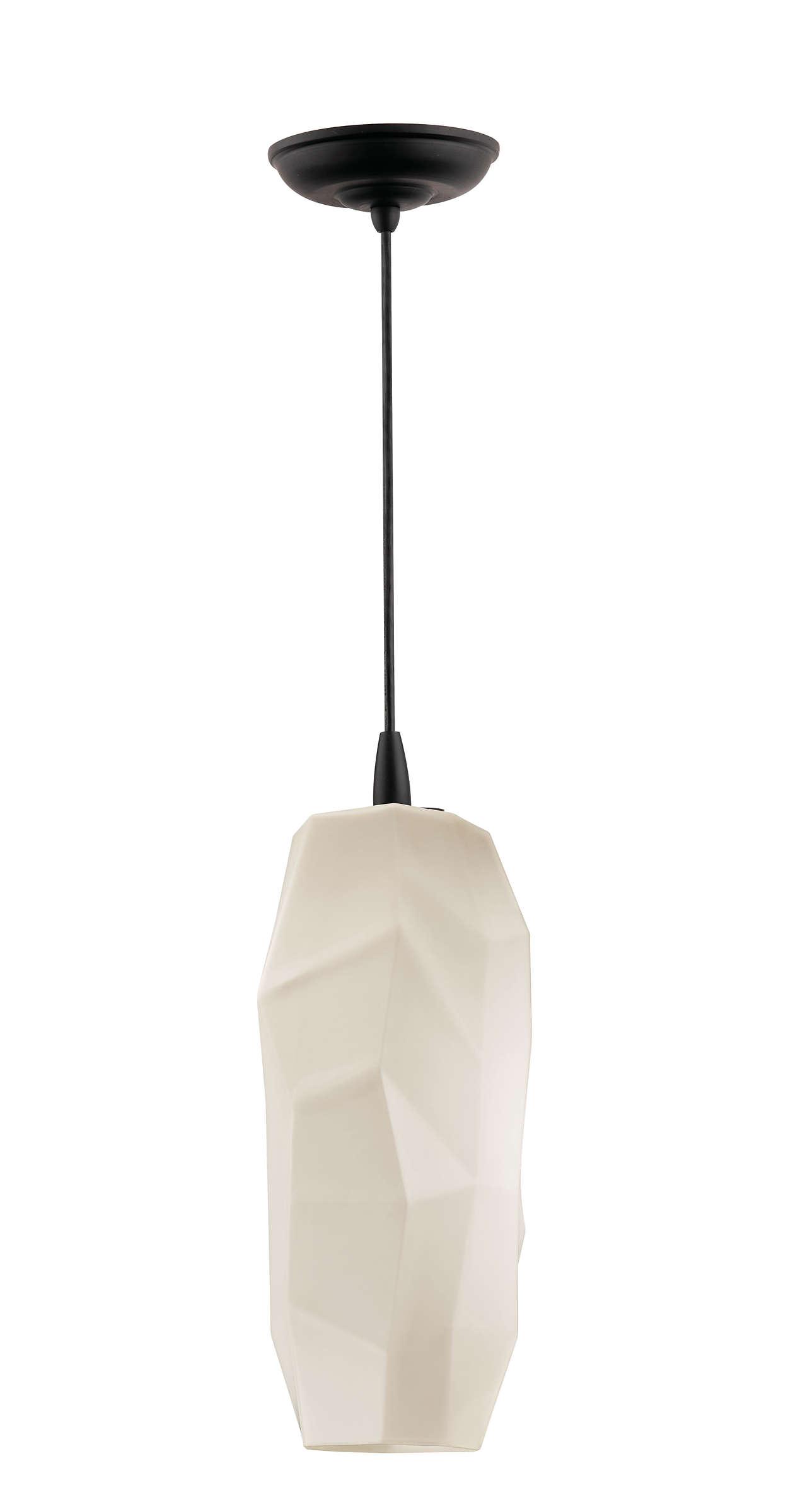 Facet 1-light pendant in Black finish