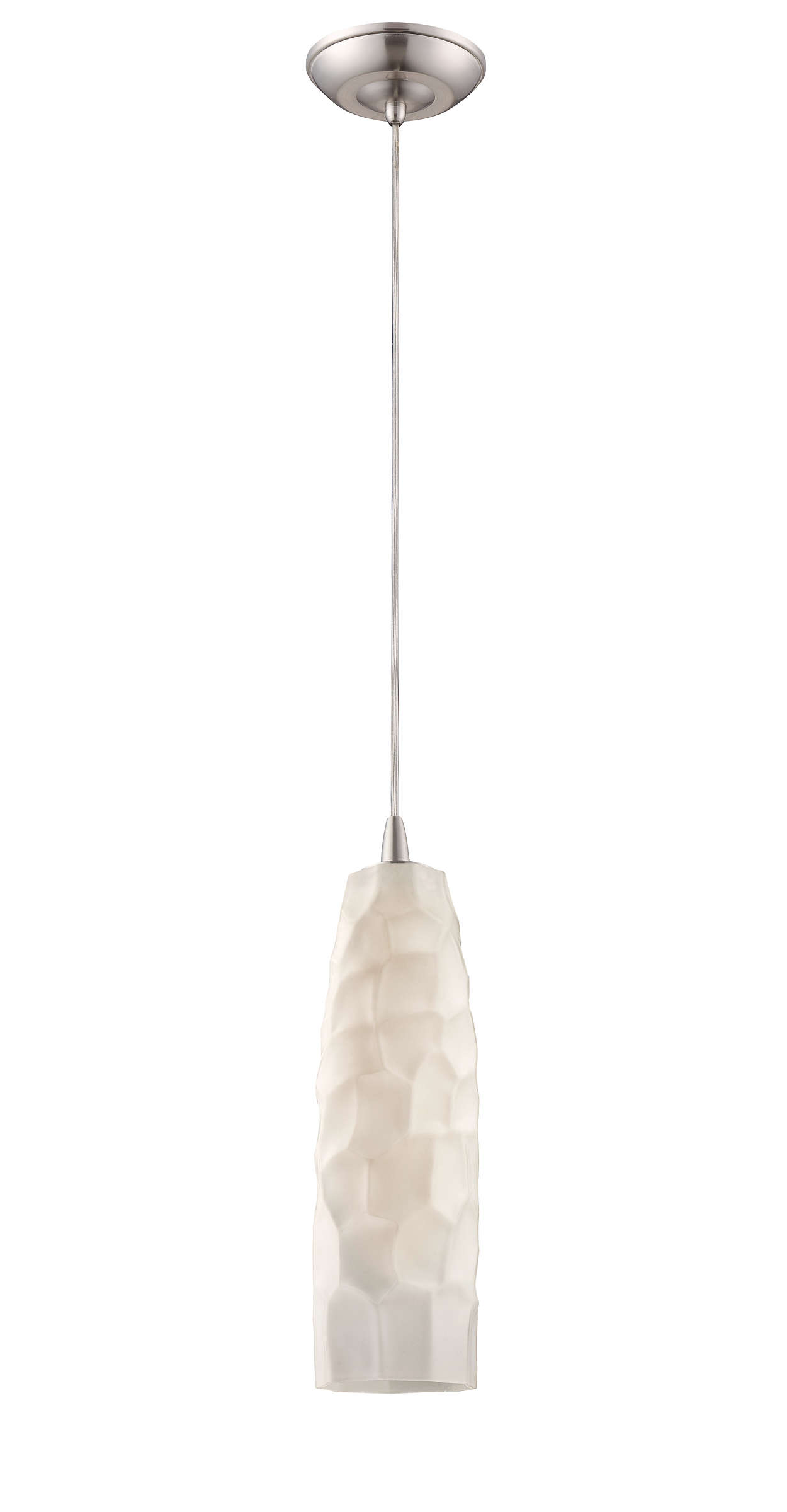 Graphite 1-light pendant in Satin Nickel finish