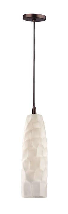 Graphite 1-light pendant in Merlot Bronze finish