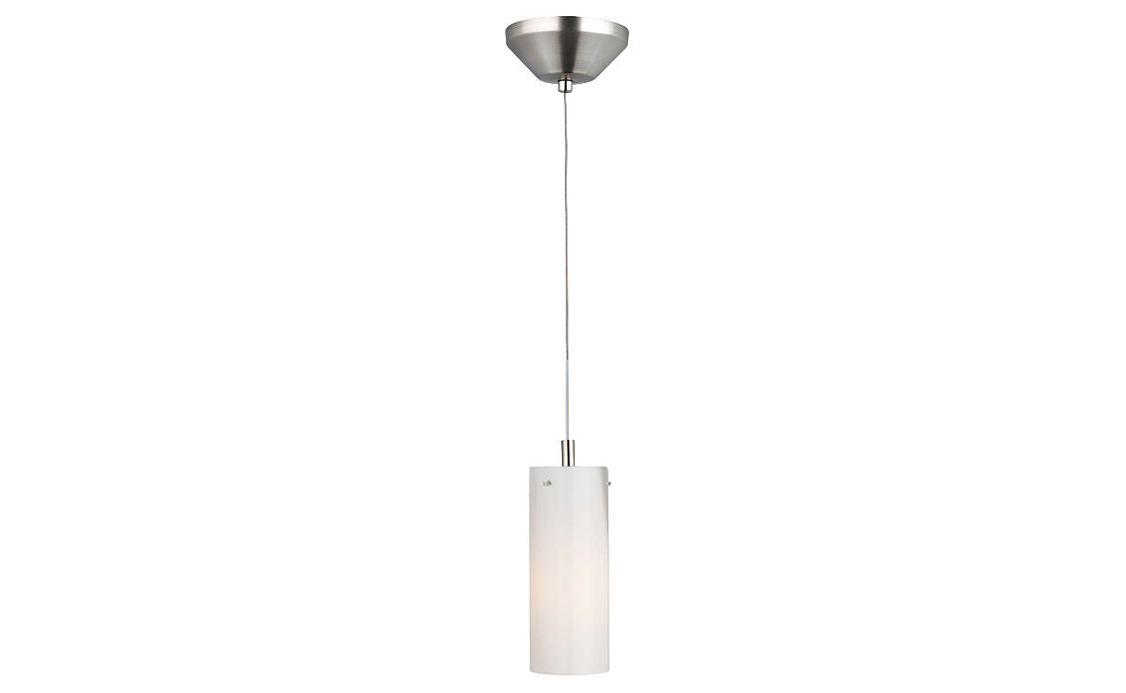 Current 1-light pendant in Satin Nickel finish