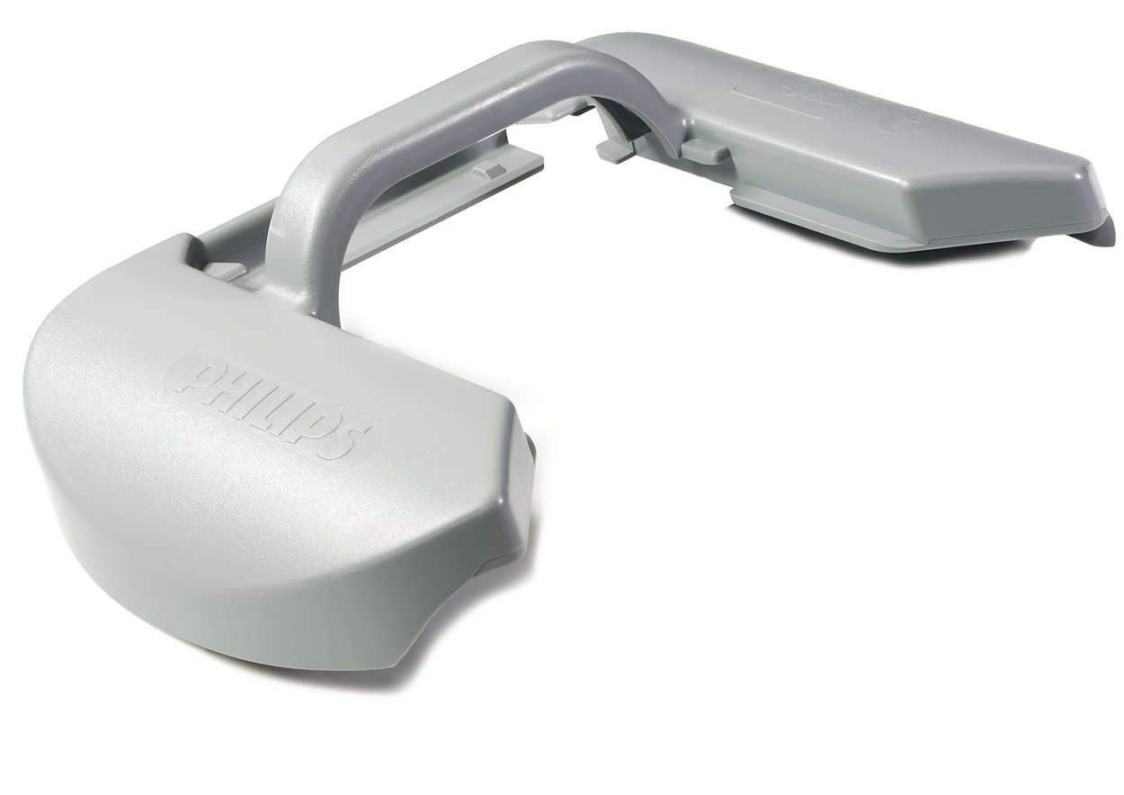 Per mantenere il sacchetto per la polvere in posizione corretta