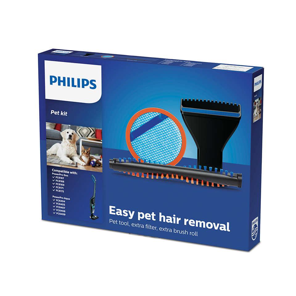 Lengvas gyvūnų plaukų valymas
