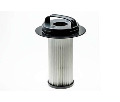 Для фильтрации воздуха в пылесосе