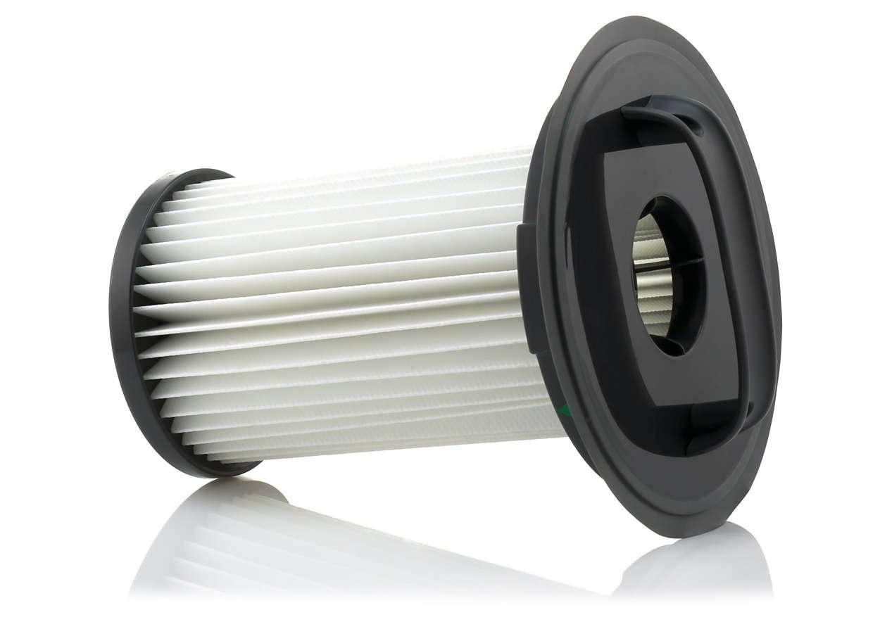 Til luftfiltreringen i din støvsuger
