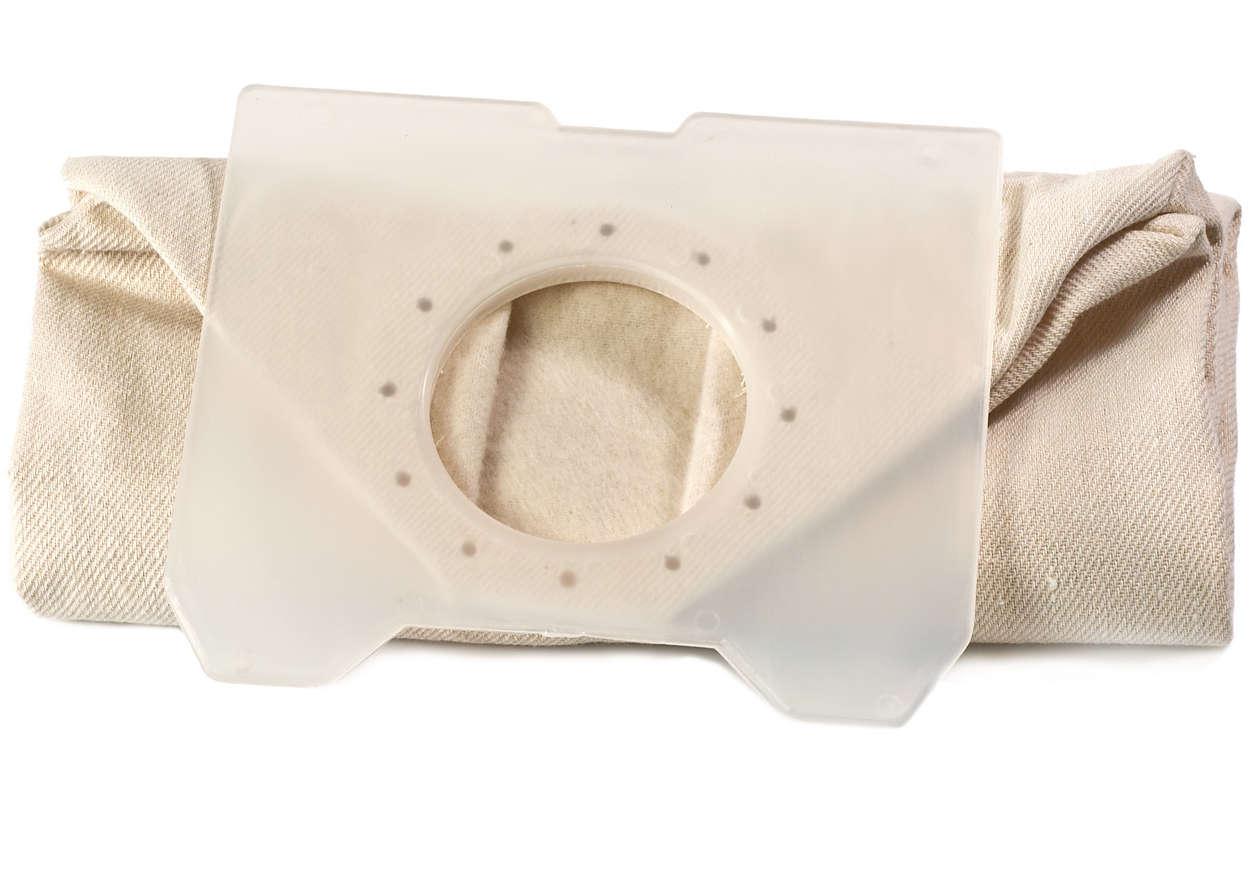 Per trattenere la polvere nell'aspirapolvere