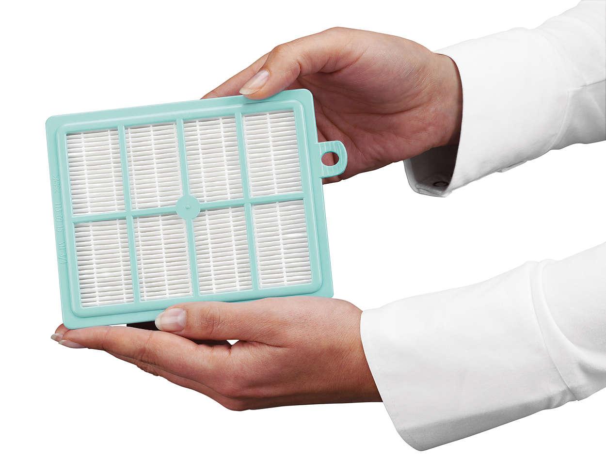 Reinigt de lucht die uit uw stofzuiger komt