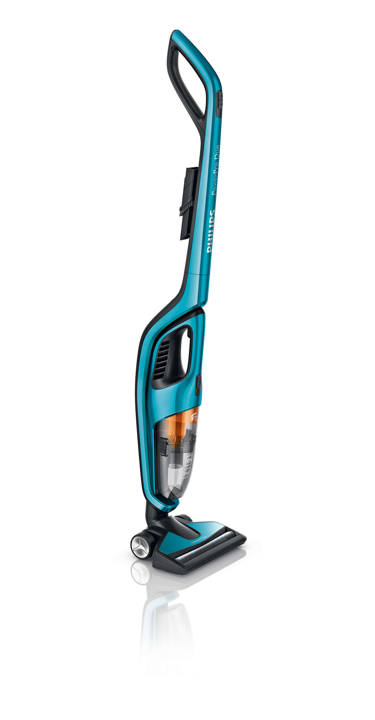 Optimales Reinigungsergebnis auf harten Böden und auf Teppichen.