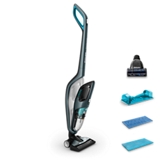 FC6409/01 PowerPro Aqua Bezdrátový tyčový vysavač pro mokré i suché čištění