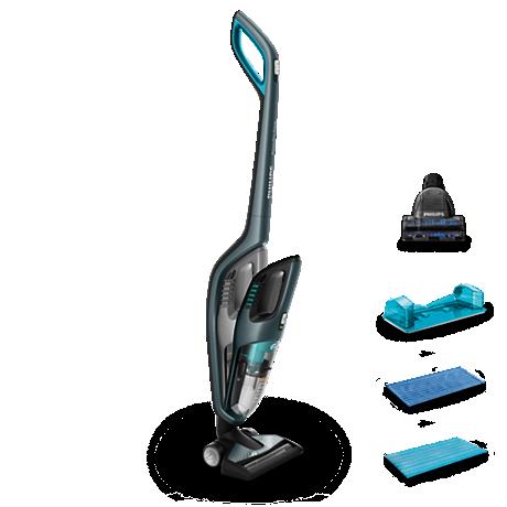 Tyčový vysávač na mokré aj suché čistenie + ručný vysávač
