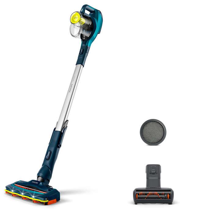 Snel en krachtig schoonmaken, ook op moeilijk bereikbare plekken