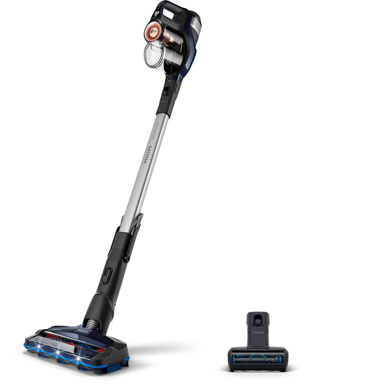 A experiência de limpeza sem cabo mais rápida*