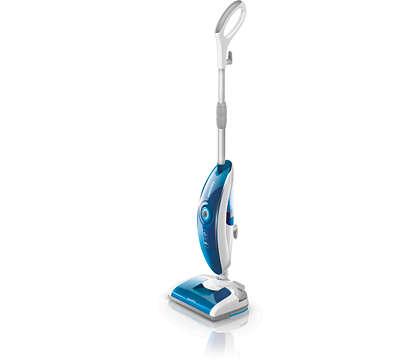 Uzturiet grīdas spīdīgi tīras ar tvaiku