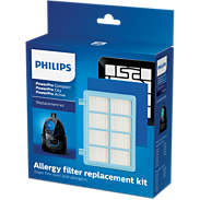 Philips Replacement Kit FC8010/02 1x Exhaust filter 1x Washable motor filter 1xWashable 2 layer foam filter