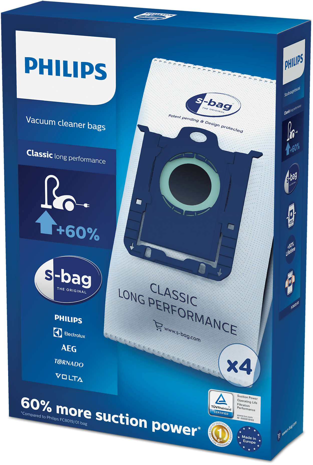 S Bag Vacuum Cleaner Bags Fc8021 03 Philips