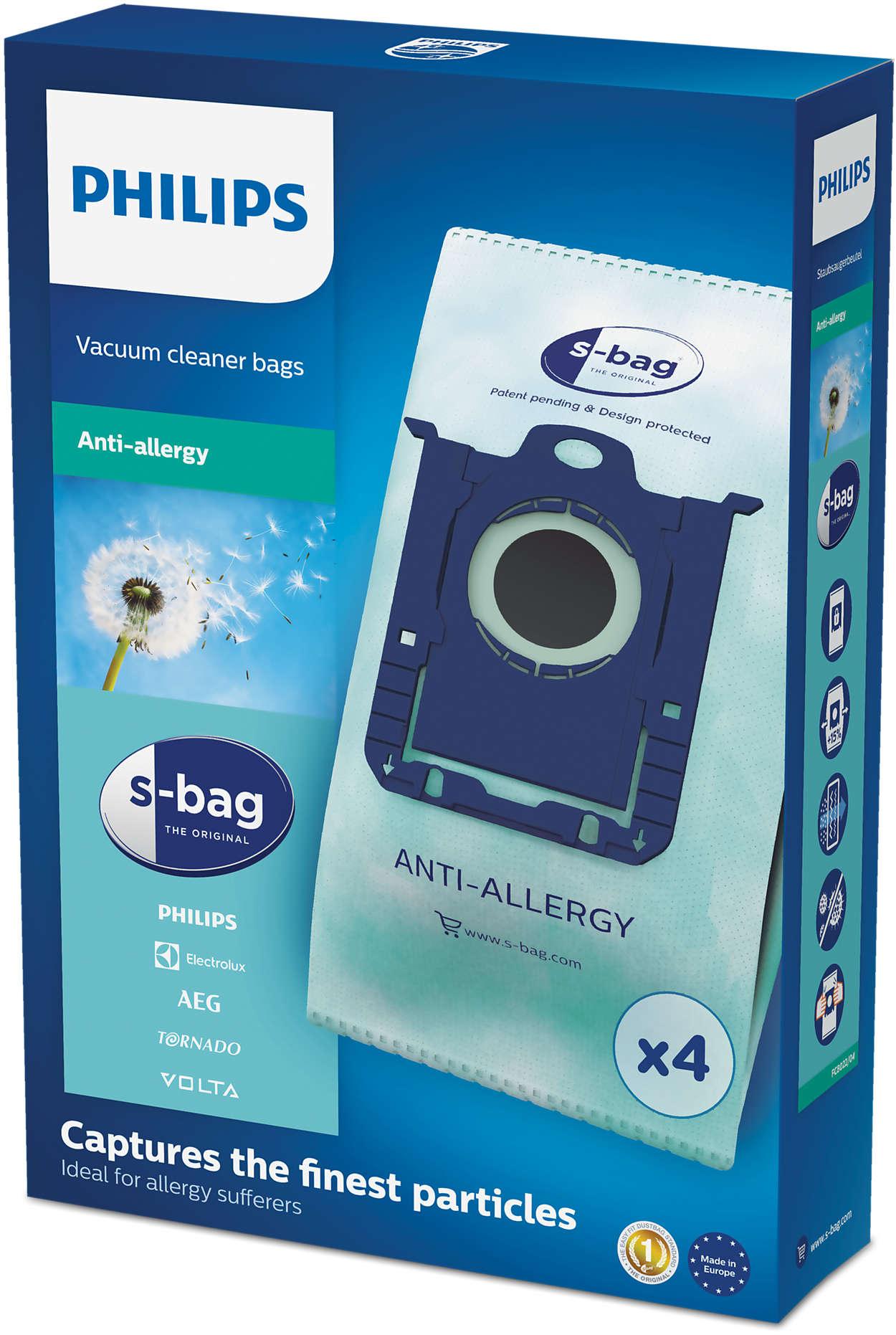 Allergisille sopiva s-bag®-pölypussi