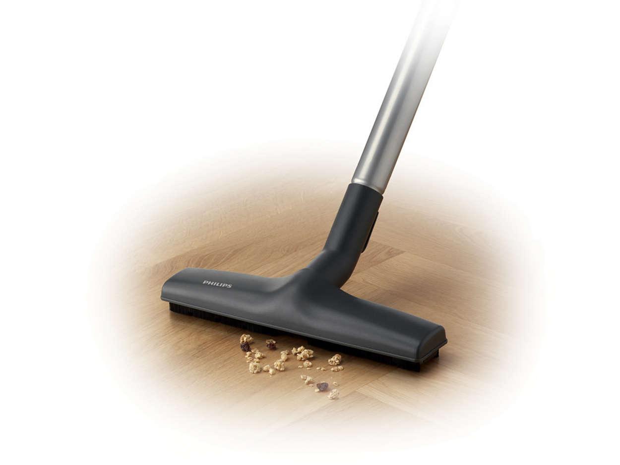 A kemény padló kíméletes tisztítása