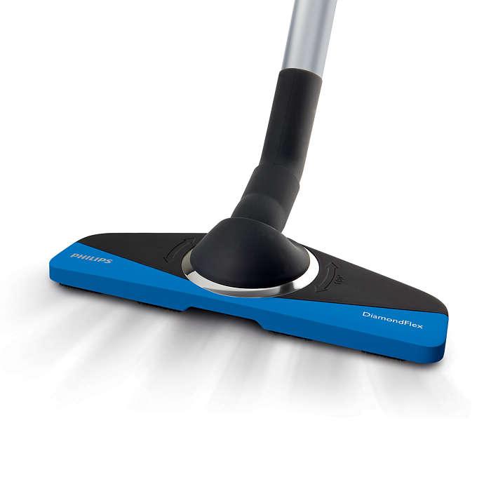Rugalmas tisztítás a nehezen elérhető területeken