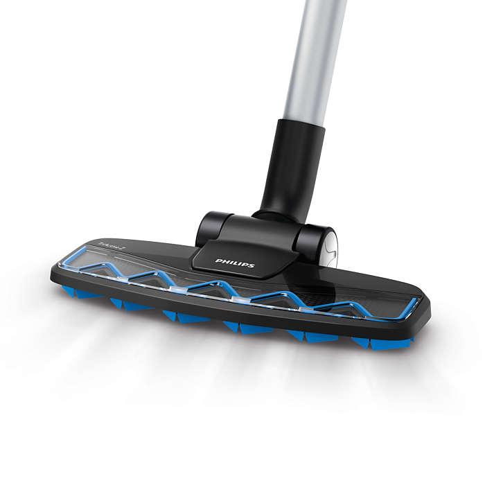 Odstraňuje velké nečistoty i jemný prach jedním tahem