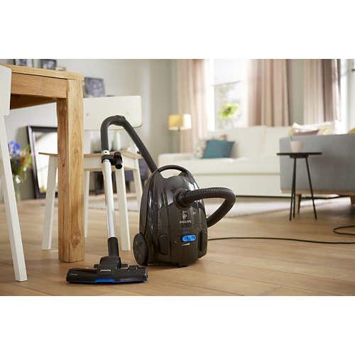 PowerLife Effektiv på både hårde gulve og gulvtæpper