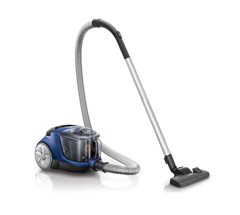 По-голяма всмукателна мощност* за по-добро почистване