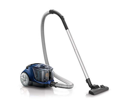 Higher suction power* for a better clean