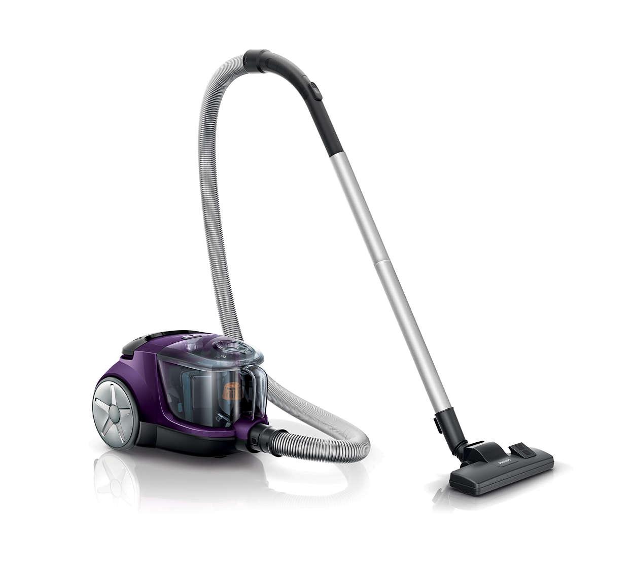 더 효과적인 청소를 위한 20% 더 강력한 흡입력*
