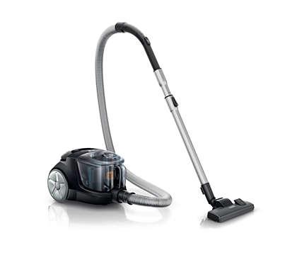 20% по-голяма всмукателна мощност* за по-добро почистване