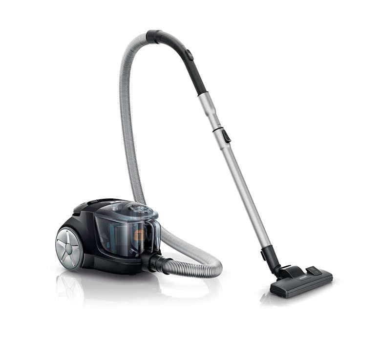 Potência de sucção 20% mais elevada* para uma melhor limpeza