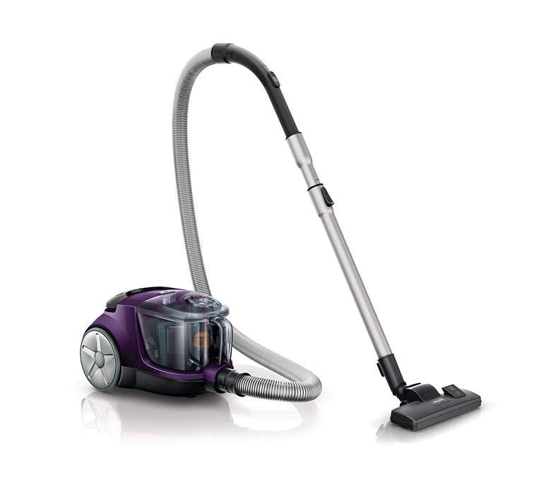 Daha gelişmiş temizlik için daha yüksek emiş gücü*