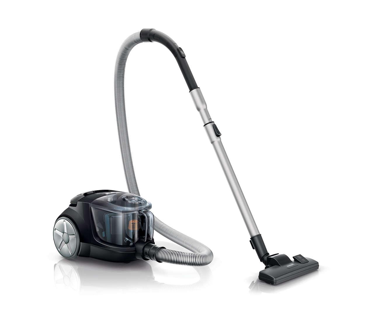 더 효과적인 청소를 위한 강력한 흡입력*