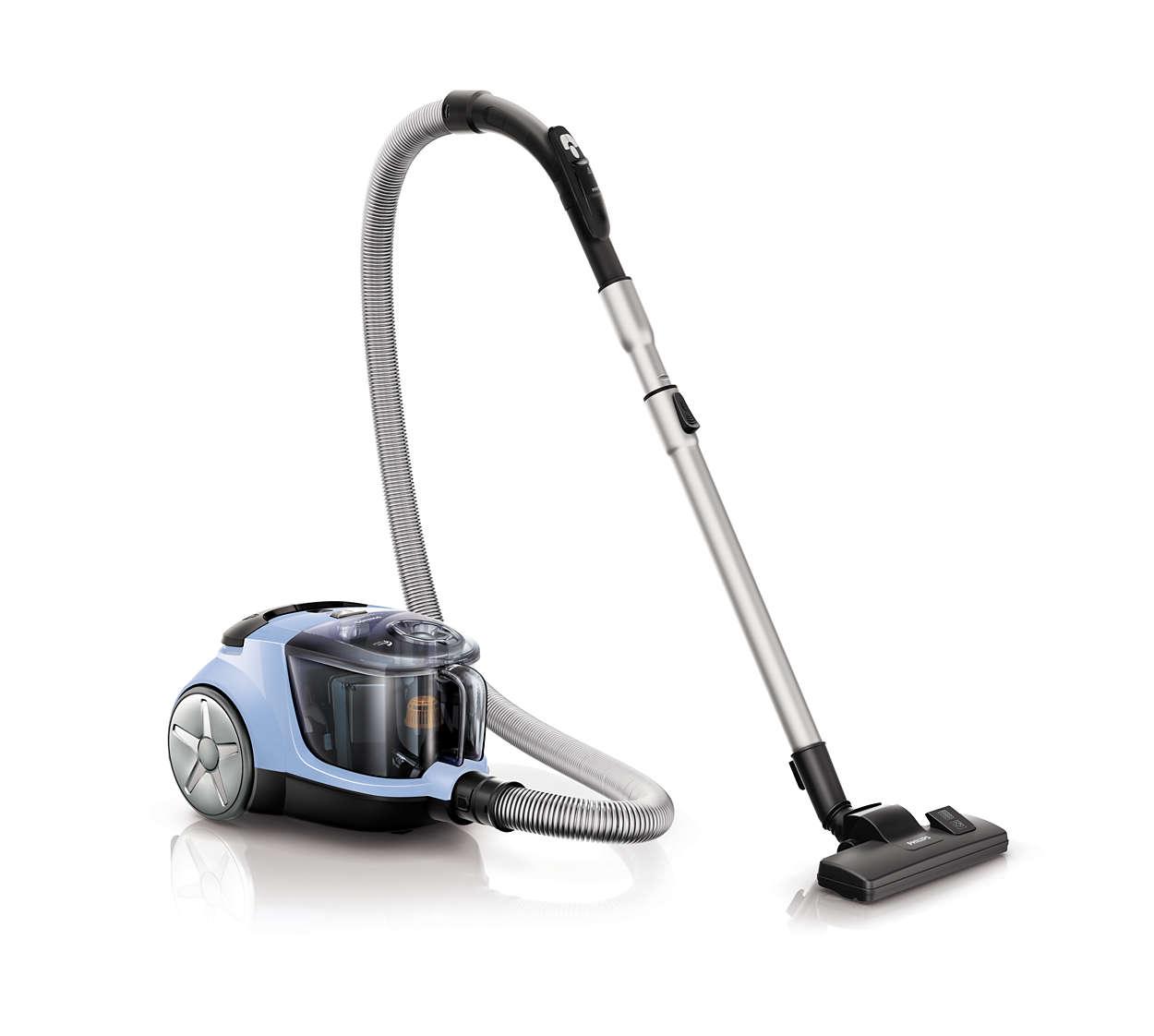 Высокая мощность всасывания для более тщательной уборки