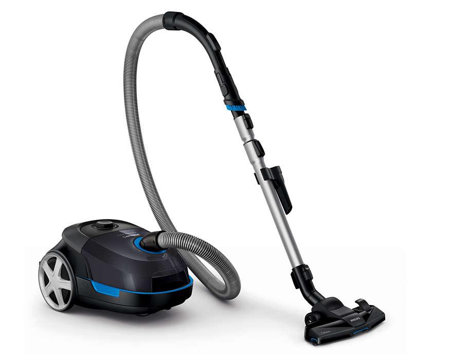 Aspiration maximale pour un nettoyage en profondeur.