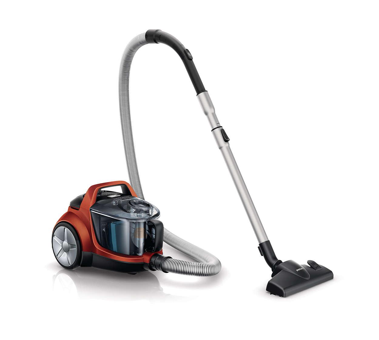 Kraftvolle Saugleistung für eine gründlichere Reinigung*