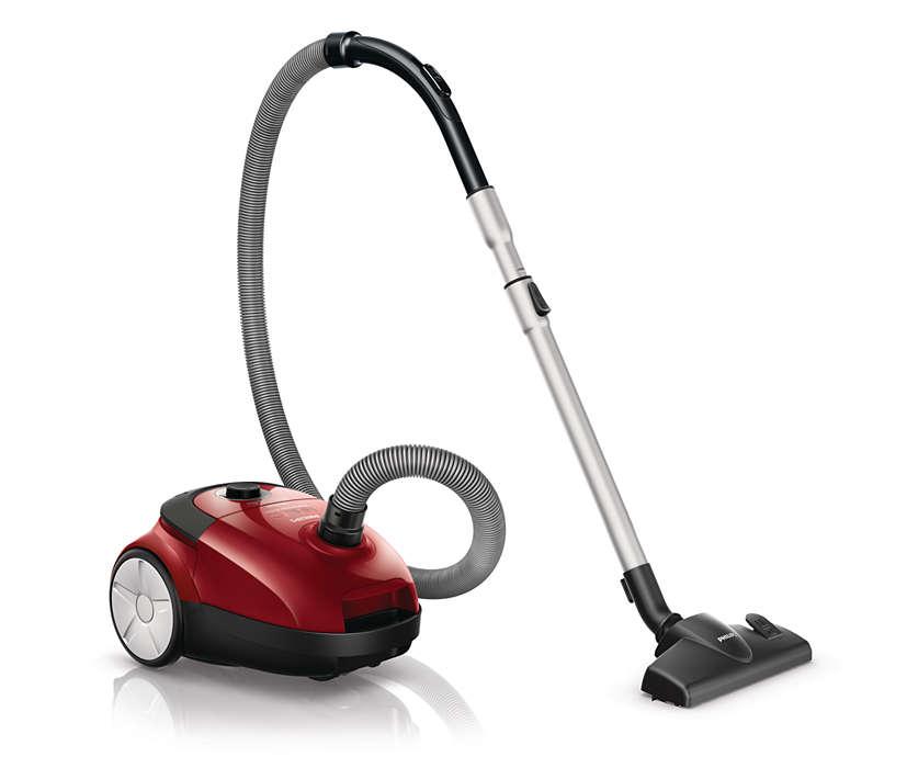 Potência de sucção máxima para melhores resultados de limpeza*