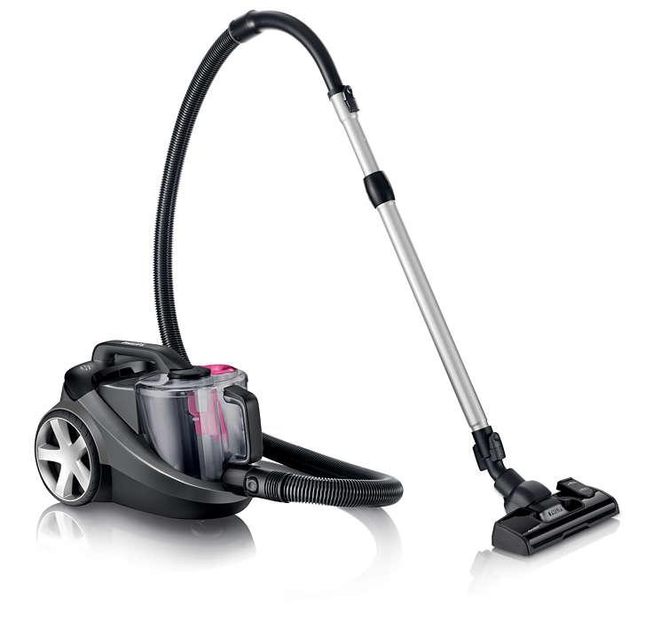 더 효과적인 청소를 위한 40% 더 강력한 먼지 흡입력