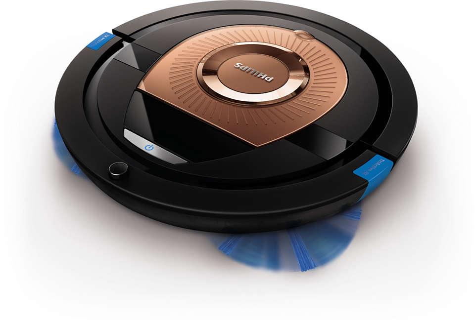Robotdammsugare med smart inbyggd sensor